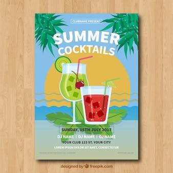 여름 칵테일 포스터