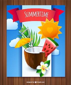 夏のココナッツカクテル