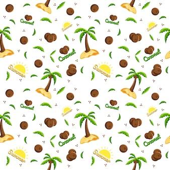 夏のココナッツ柄