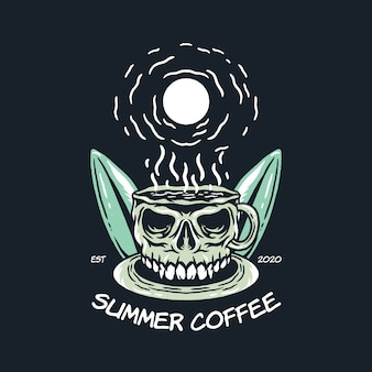 Summer coffee illustration