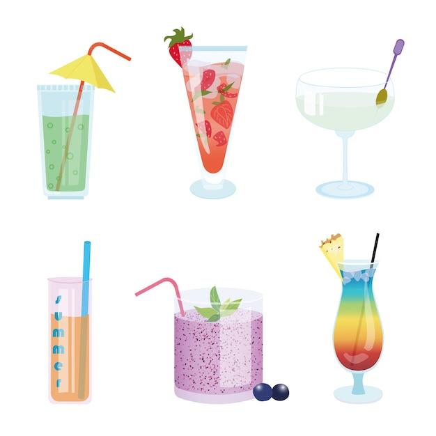 グラスに夏の冷たい飲み物