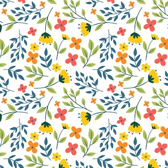 Summer colourful floral pattern template