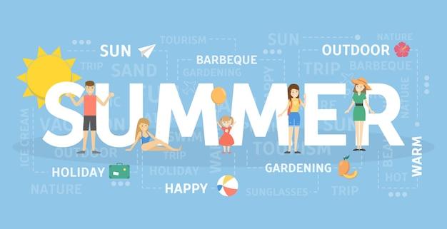 Summer concept illustration.