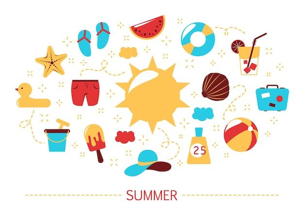 夏のコンセプトです。休日と休暇の時間。アイスクリーム