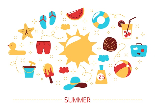 Summer concept. time for holiday and vacation. ice cream