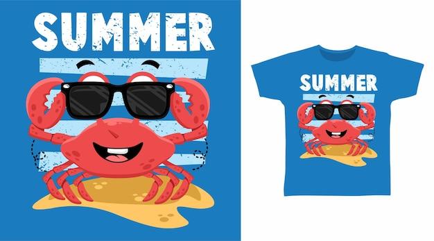 여름 시원한 게 티셔츠 디자인