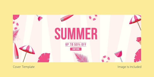Шаблон оформления летней обложки
