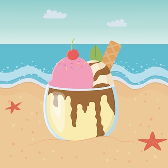 Summer and delicious ice cream