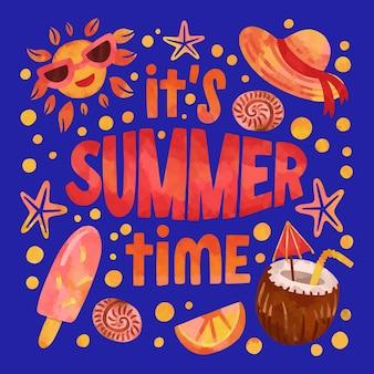 夏のデザインの背景