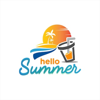 Summer design beach island vector illustration holiday season and tourism graphic template