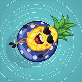 パイナップルの夏のデザイン
