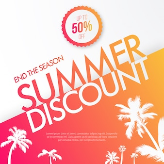 Summer Discount Background