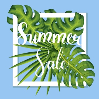 Summer discount vector template