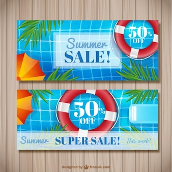 Summer discounts banners