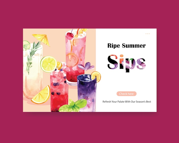 Summer drink website template