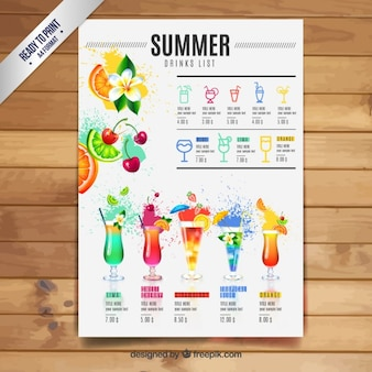 Summer drinks list