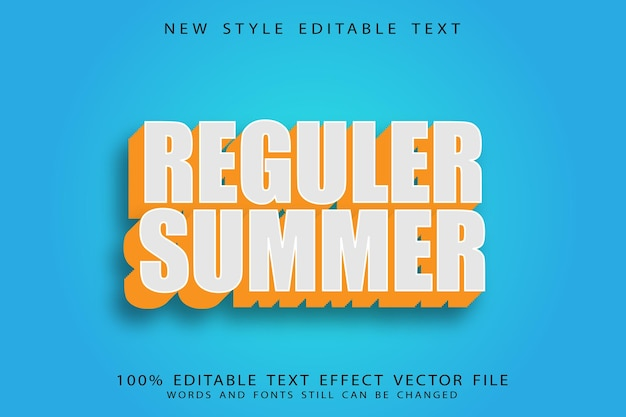 Летний редактируемый текстовый эффект с тиснением в винтажном стиле