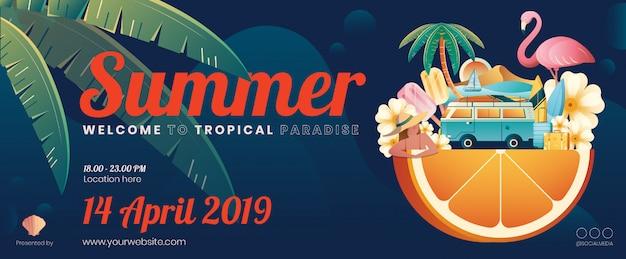 Summer element banner layout