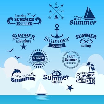 여름 요소 라벨