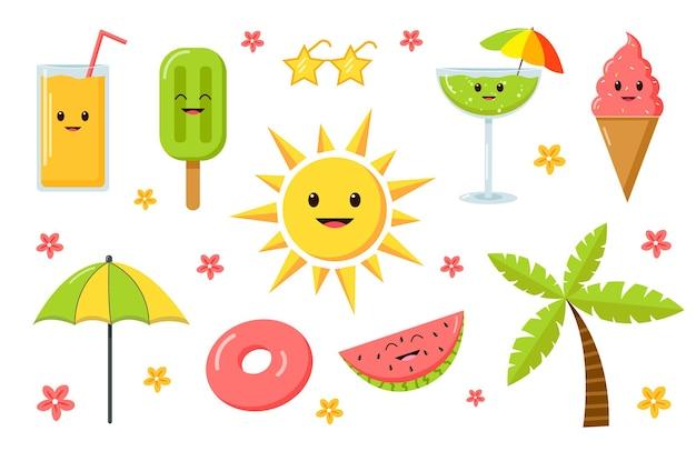 Коллекция летних элементов