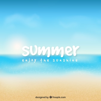 Summer, enjoy the sunshine