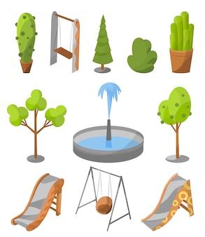 Summer entertainment, recreation infrastructure element