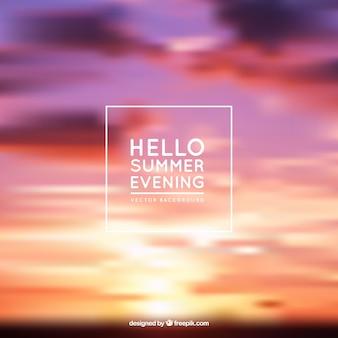 Summer evening background