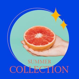 ソーシャルメディア投稿の夏のファッションテンプレート