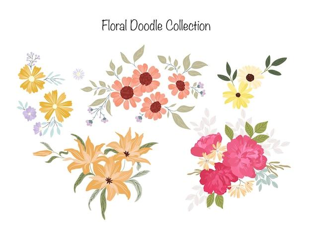 夏の花の落書きコレクション