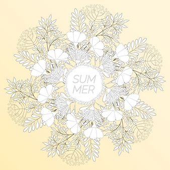 Summer floral in the form of a wreath