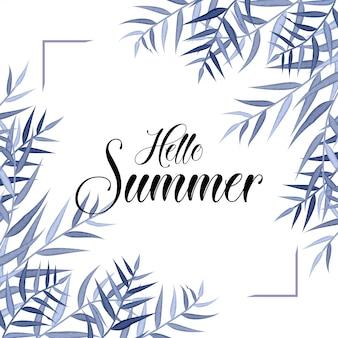 Summer floral frame - summer special , floral frame design