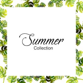 Summer floral frame - summer special, floral frame design