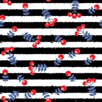 Summer flower seamless pattern background