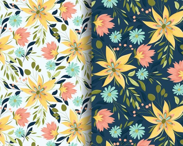 Summer flowers garden seamless pattern