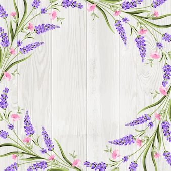 Summer flowers garland frame background