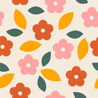 夏の花のシームレスなパターンと背景