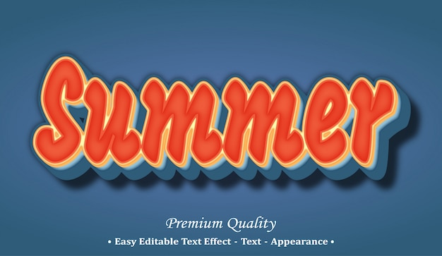 Summer  font style effect