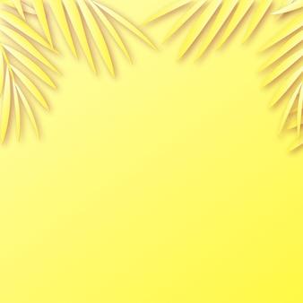 熱帯の葉の影と夏のフレームの背景。