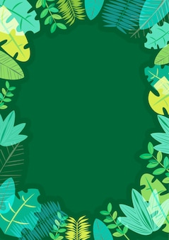 Summer frame green tone