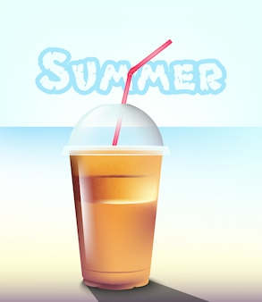 Summer frappe at the sea