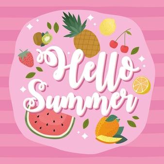 여름 신선한 과일