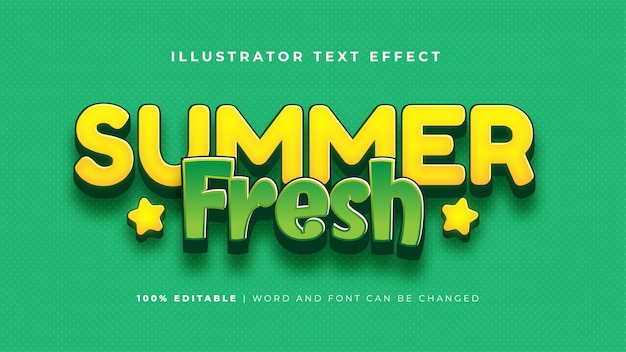 Summer fresh text effect