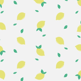 Summer fresh yellow lemon pattern