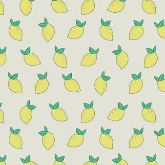 夏の新鮮な黄色のレモンパターン