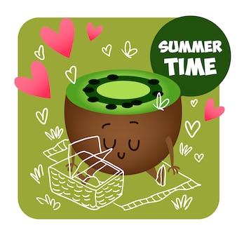 Summer fruit background design