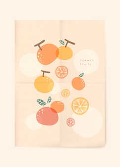 Summer fruits background