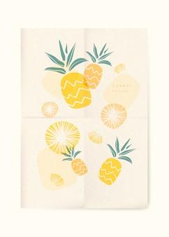 Summer fruits background