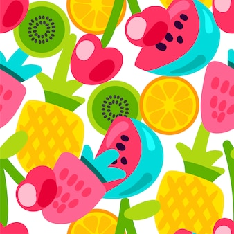 Summer fruits patterns