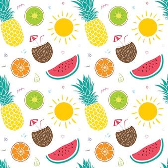 Summer Fruits Seamless Pattern