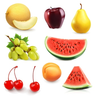 Набор летних фруктов